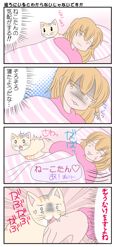 猫の気配を感じる漫画