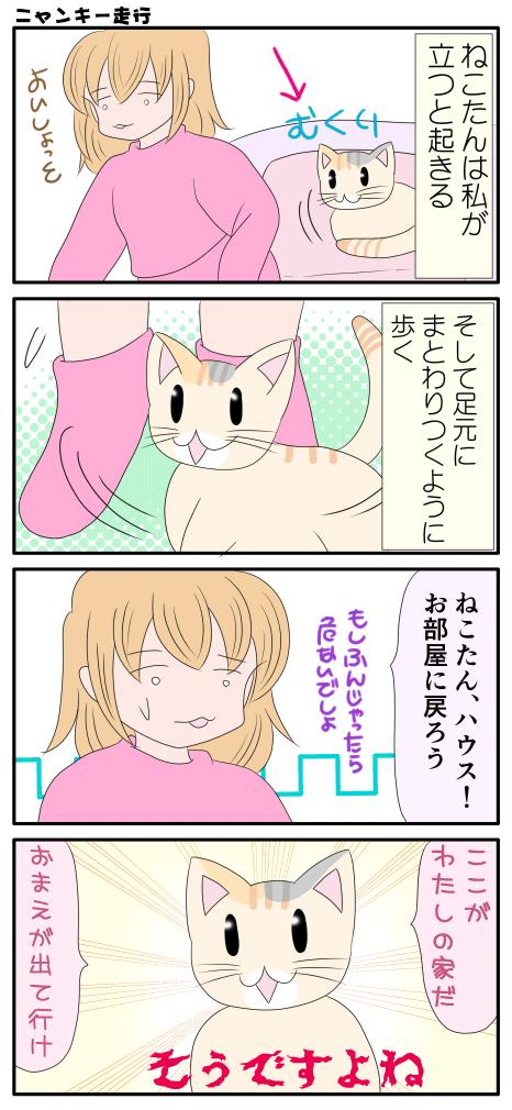 ヤンキー走行をする猫の漫画