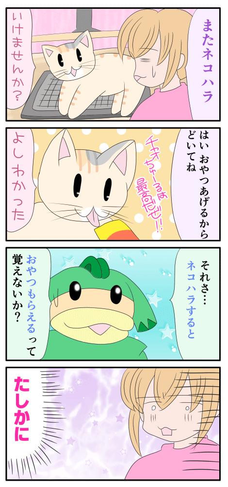 ネコハラについての漫画