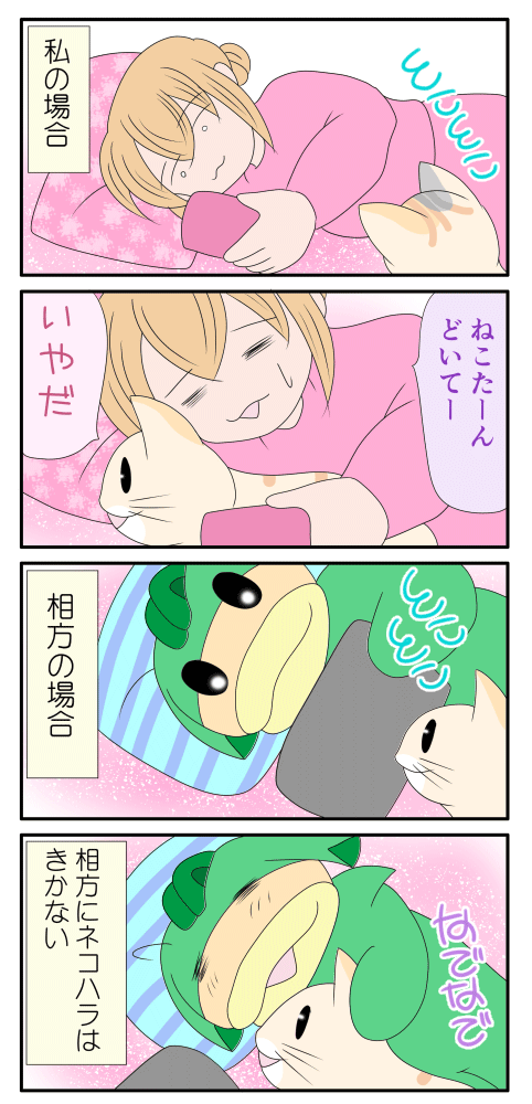 ネコハラの漫画